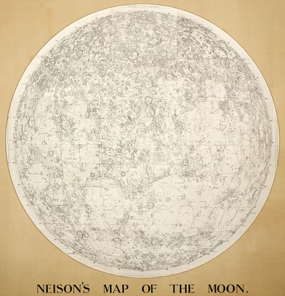 Neison's map of the moon, 1876.
