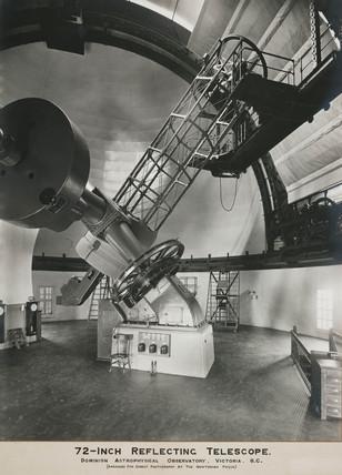72 inch reflecting telescope, Victoria, British Columbia, Canada, 1920.
