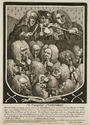 'The Company of Undertakers', 1736.