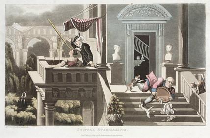 'Dr Syntax star-gazing', 1 May 1821.