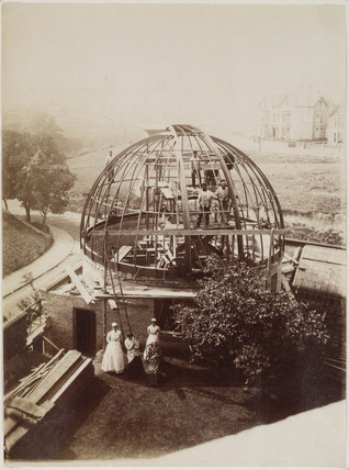 Wigglesworth Observatory under construction, Scarborough, 1885.