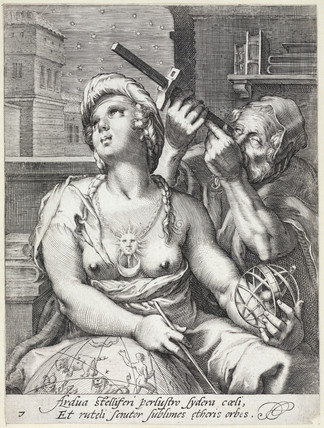 Allegorical engraving of Astronomy, 17th century.