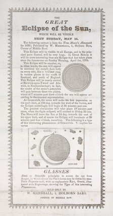 'The Great Eclipse of the Sun' 1836.