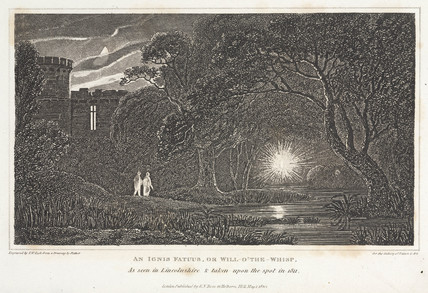 'An Ignis Fatuus, or Will-o'-the-Whisp', as seen in Lincolnshire, 1820.