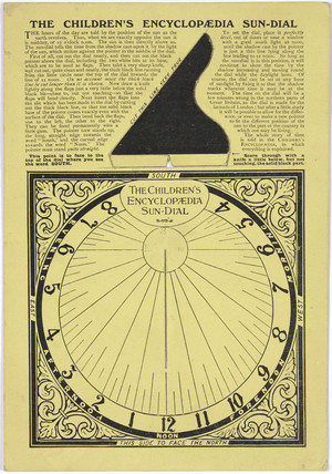 'The Children's Encyclopedia Sundial', c 1930-1935.