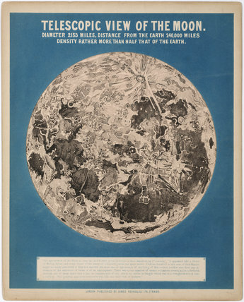 'Telescopic view of the Moon', c 1860.