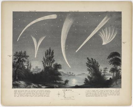 'Comets', c 1860.