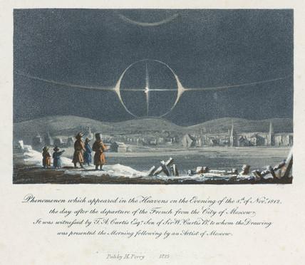 Natural phenomenon, Moscow, Russia, 1812.