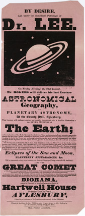 Lectures on Astronomical Geography, Aylesbury, 19th century.