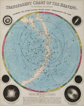 'Chart of the Heavens', c 1855.