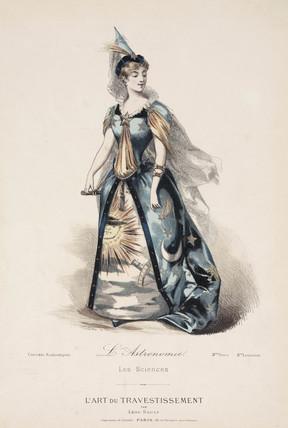 Allegorical costume, Paris, c 1880s.
