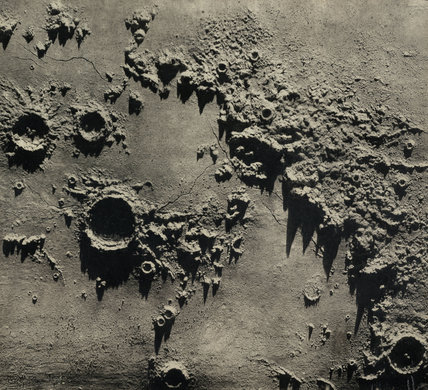 Model of lunar craters centred on the Apennine Mountains, 1850-1871.