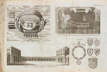 Flying machine and sculpture, April 1786.