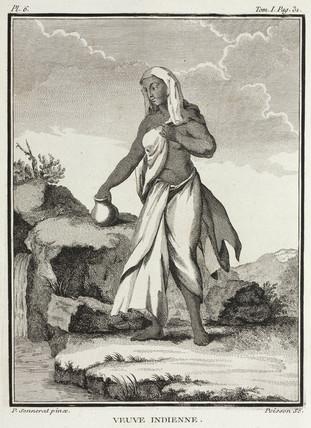Widow, India, 1774-1781.