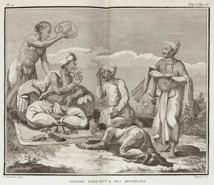 Guru and his disciples, India, 1774-1781.