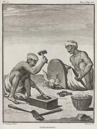 Blacksmiths, India, 1774-1781.