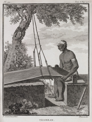 Weaver, India, 1774-1781.