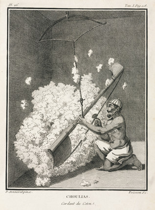 Cotton carder, India, 1774-1781.