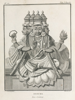 Brahma, the Hindu creator god, 1774-1781.