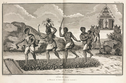 Fire festival, India, 1774-1781.