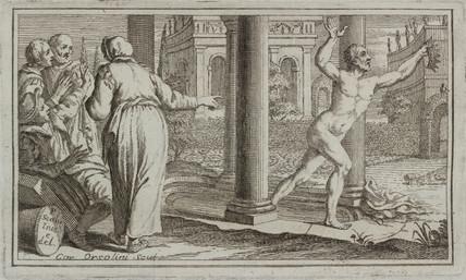 Archimedes crying 'Eureka!', 3rd century BC, (1737).