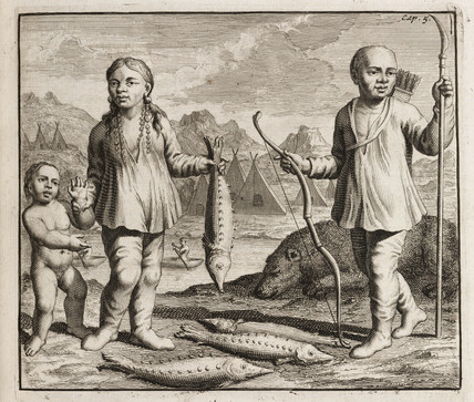 Siberian family, c 1700.