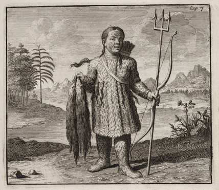 Siberian with minks, c 1700.