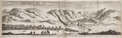 'The Ambasador's Entry through the Famous Chinese Wall', c 1700.