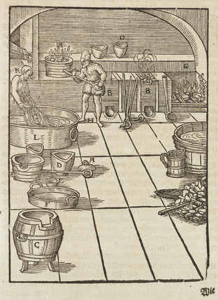 Silver pelletisation, 1580.