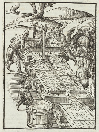 Gold washing, 1580.