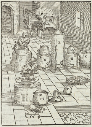 Separating gold from mercury, 1580.