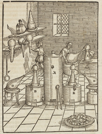 Separating silver from gold, 1580.