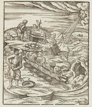 Smelting of bismuth, 1580.