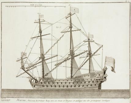 Sailing ship, 1769.
