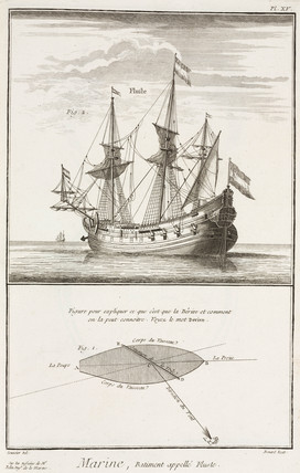 The 'Fluste' sailing ship, 1769.