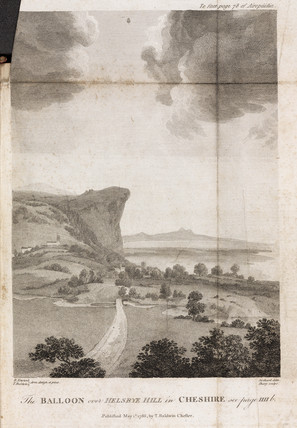 'The Balloon over Helsbye Hill in Cheshire', 1785.