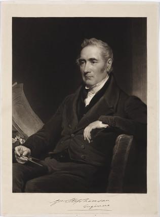 George Stephenson, English railway engineer, c 1825-1835.