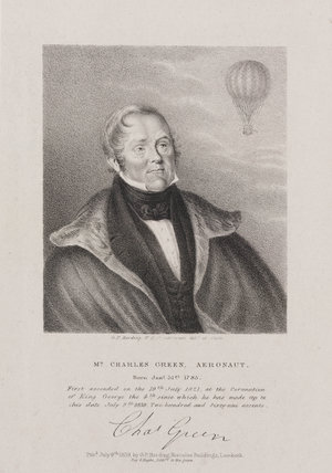 Charles Green, English aeronaut, 1839.