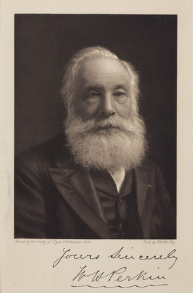 Sir William Henry Perkin, English chemist, c 1906.