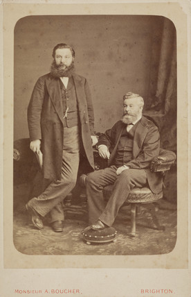 Sir William Henry Perkin with his brother, Thomas Dix Perkin, c 1870-1872.