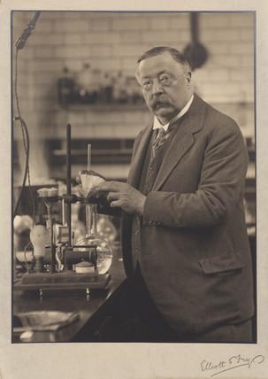 William Henry Perkin Junior, English chemist, c 1916.