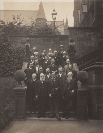 William Henry Perkin and group at the British Asociation meeting, c 1900.