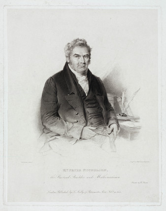 Peter Nicholson, British mathematician and architect, 1825.