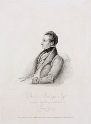Charles Babbage, British mathematician and computing pioneer , 1832.