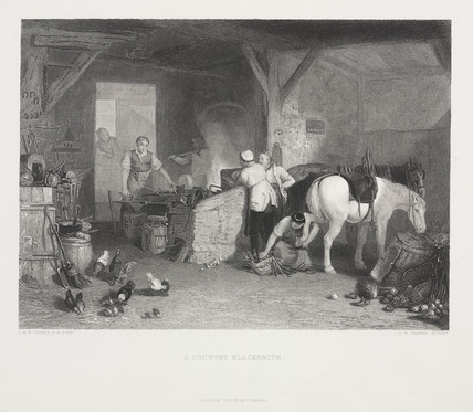 'A Country Blacksmith', c 1830s.