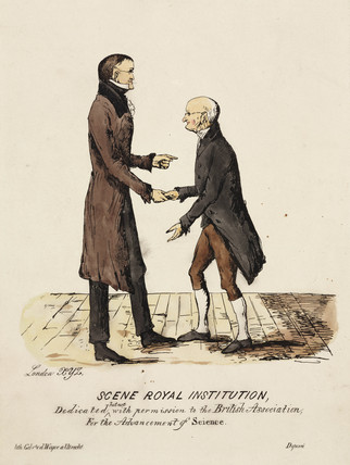 'Scene Royal Institution': Gerrit Moll and John Dalton, c 1831-1840.