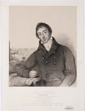 Frederick Albert Winsor, German pioneer of gas lighting, early 19th century.