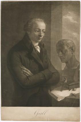 Franz Joseph Gall, German anatomist and phrenologist, c 1810.
