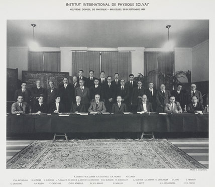 Ninth Solvay Physics Conference, Brussels, 1951.