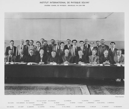 Eleventh Solvay Physics Conference, Brussels, 1958.